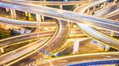 4k resolution city traffic junction time lapse Stock Footage