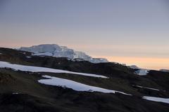 Stufengletscher glacier crater rim kilimanjaro tanzania Stock Photos