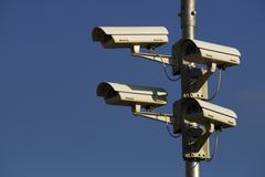 Stock Photo of surveillance cameras