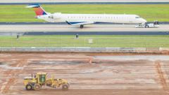 Airport Construction Stock Footage