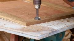 Carpenter make new door Stock Footage