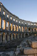 amphitheatre in pula, istria, croatia - stock photo