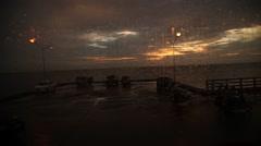Sun set at sea background Stock Footage