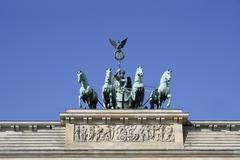 Brandenburger gate, quadriga, pariser platz, berlin, germany Stock Photos