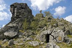 Bruchhauser steine, rothaarsteig hiking trail, sauerland region, olsberg, nor Stock Photos