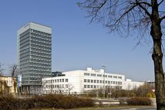 Stock Photo of building of the fraunhofer society in munich, bavaria, germany