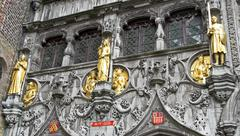 Stock Photo of statues of basilica of the holy blood (heilige bloed basiliek) in brugge, wes