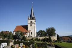 Protestant church, sondheim vor der rhoen, franconia, bavaria, germany Stock Photos