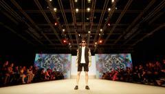 4K UHD Super models Haute Couture catwalk high fashion runway Fashion Week Stock Footage