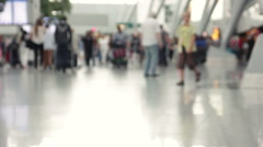 Travellers moving through the airport. Stock Footage