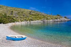 lonely bay, u. dubivica, island hvar, dalmatia, croatia - stock photo