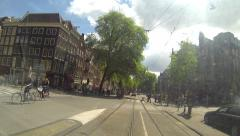 Amsterdam Tram Time Lapse Stock Footage