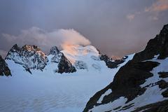 Barre des ecrins 4.102 m, glacier blanc, provence-alpes-cote de azur, hautes- Stock Photos