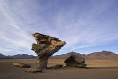 Stock Photo of bizarre rock in the shape of a mashroom (arbol de piedra), uyuni highlands, b