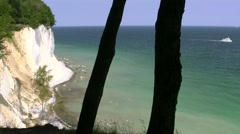 Chalk Cliffs on Rügen Island - Baltic Sea, Northern Germany Stock Footage