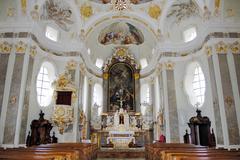Altar, karlskirche near wattens, inn valley, tyrol, austria Stock Photos