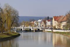 """Stock Photo of tuttlingen - historical bridge """"grossbruck"""" - baden wuerttemberg, germany, eu"""