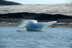 Anvil shaped iceberg at the edge of the inland ice shield in nagtivit kangert Stock Photos
