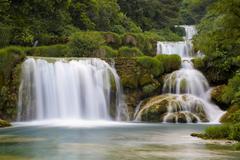 national park krka waterfalls, dalmatia, croatia - stock photo