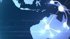 4K Growing network across the globe Stock Footage