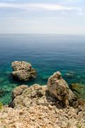 coast, island hvar, dalmatia, croatia - stock photo