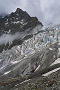 Glacier blanc, provence-alpes-cote de azur, hautes-alpes, france Stock Photos