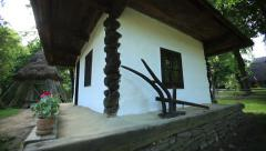 Old Traditional House Made From Clay And Stone Stock Footage