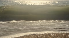 Sea waves breaking on super slow motion Stock Footage