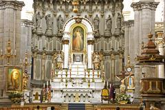 Altar of the cathedral iglesia de domingo in puebla mexico Stock Photos