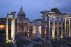 Night shot, foro romano, rome, italy, europe Stock Photos