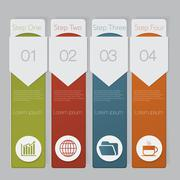 infographic. design number banners template graphic or website layout - stock illustration