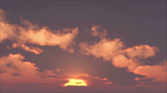 Sunset With Clouds - stock footage