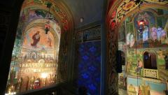 Orthodox Church. Inside View Stock Footage