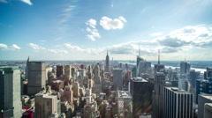 New York City Manhattan buildings skyline time-lapse daytime - stock footage