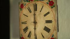 Old Wall Clock - stock footage
