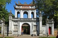 Stock Photo of temple of literature van mieu, hanoi, vietnam