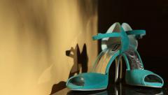 Bridal Shoe Stock Footage
