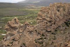 pre-inka graveyard and ritual place, uyuni highlands, bolivia - stock photo