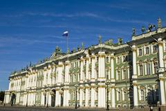 The winter palace with the magnificant baroque fassade saint peterburg russia Stock Photos