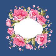 Luxurious color peony pattern. Stock Illustration