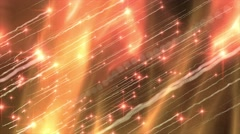 Abstract motion background, shining light, stars, particles, energy waves, loop. Stock Footage