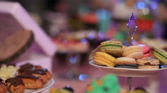 Dessert table - stock footage