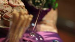 Romantic wedding cupcakes Stock Footage