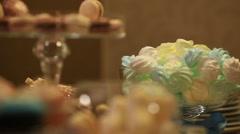 Birthday decor. Dessert table. Stock Footage