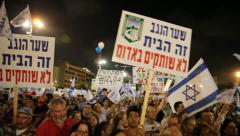 Thousands rally in solidarity with residents of villages near Gaza border Stock Footage