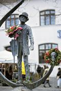 Karl valentin statue, viktualienmarkt, munich, bavaria, germany Stock Photos
