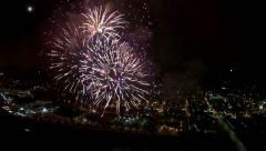 Fireworks Aerial Footage from Helicopter 2 - stock footage