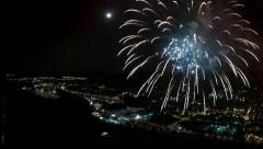 Fireworks Aerial Footage from Helicopter 5 - stock footage