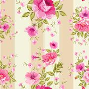 Roses, floral wallpaper Stock Illustration
