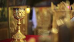 The elements of communion / eucharist. - stock footage